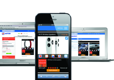 The eziMARKET web app works well in all browsers and across different devices